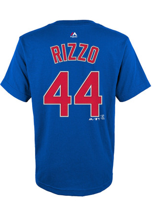 Anthony Rizzo Outer Stuff Chicago Cubs Kids Name and number Blue Player Tee