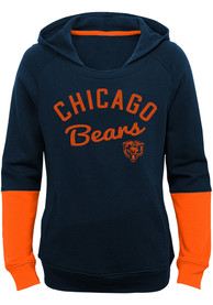 Chicago Bears Girls Game Day Hooded Sweatshirt - Navy Blue