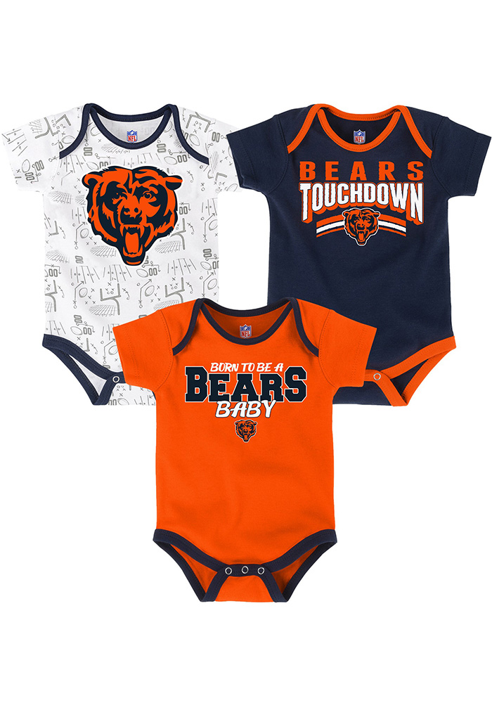Chicago Bears Baby Orange Playmaker One Piece - Image 1
