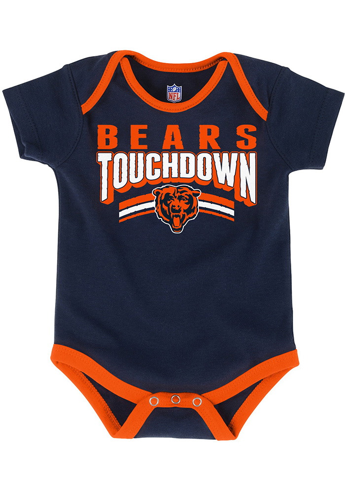 Chicago Bears Baby Orange Playmaker One Piece - Image 2