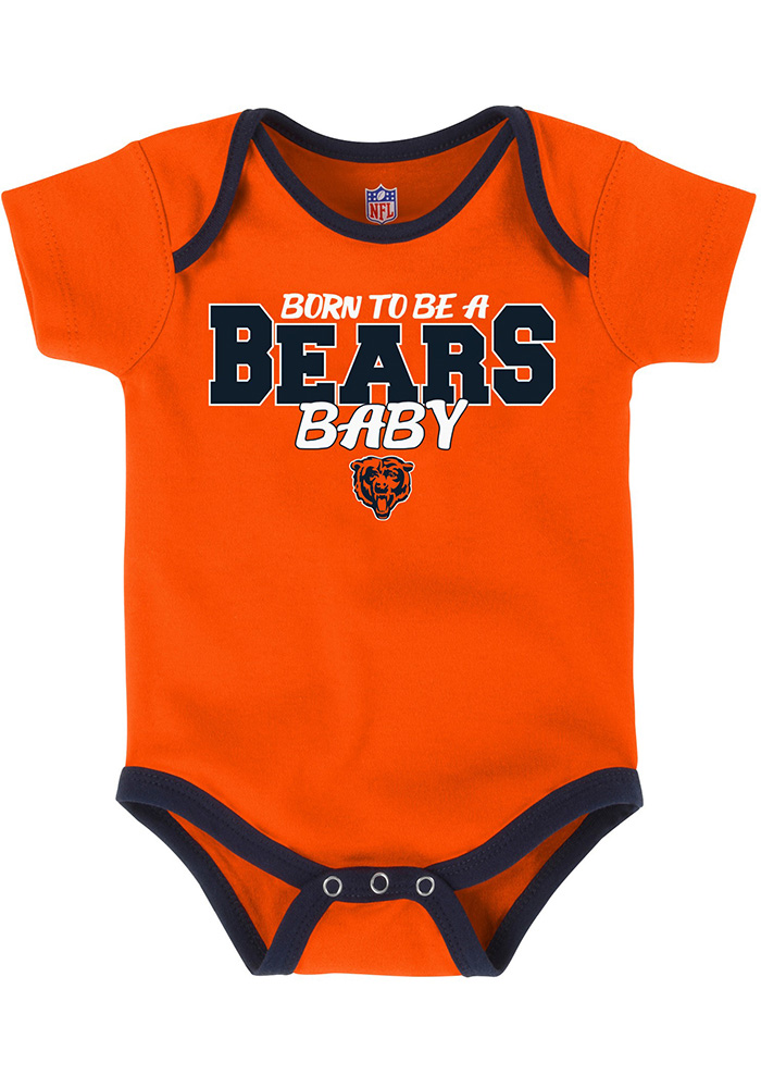 Chicago Bears Baby Orange Playmaker One Piece - Image 3