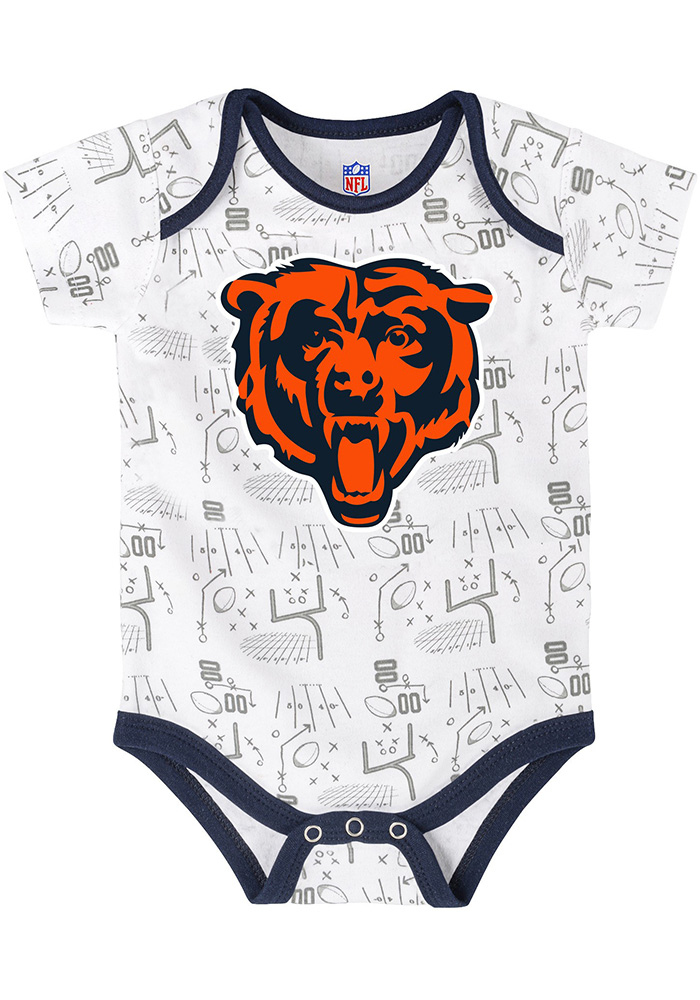 Chicago Bears Baby Orange Playmaker One Piece - Image 4