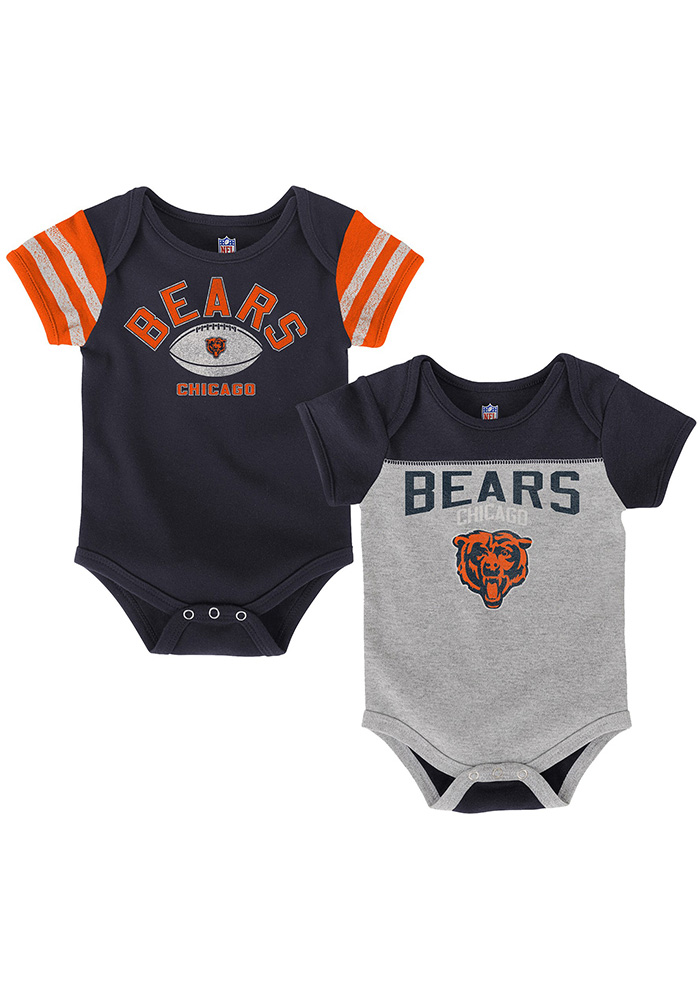 Chicago Bears Baby Navy Blue Vintage One Piece - Image 1