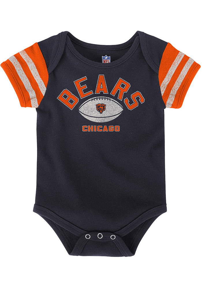 Chicago Bears Baby Navy Blue Vintage One Piece - Image 2