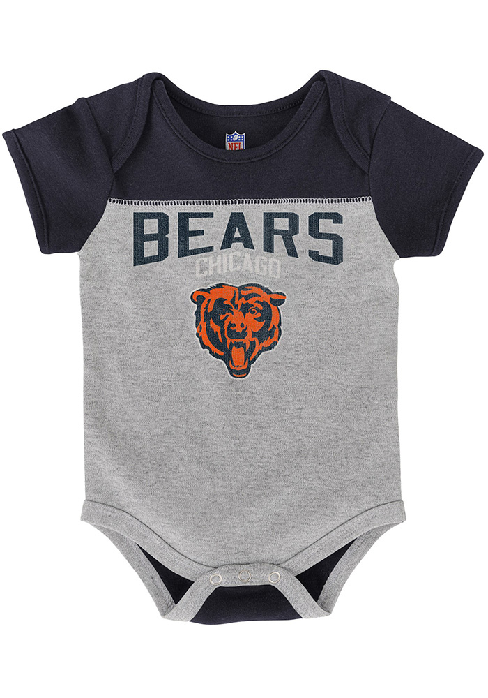 Chicago Bears Baby Navy Blue Vintage One Piece - Image 3