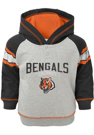 Cincinnati Bengals Toddler Classic Stripe Hooded Sweatshirt - Grey