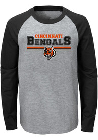 Cincinnati Bengals Youth Grey Field Line T-Shirt