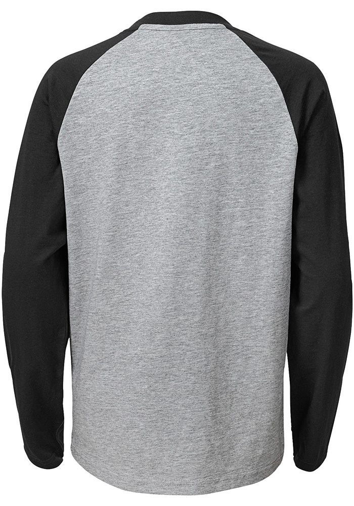 Cincinnati Bengals Youth Grey Field Line Long Sleeve Fashion T-Shirt - Image 2
