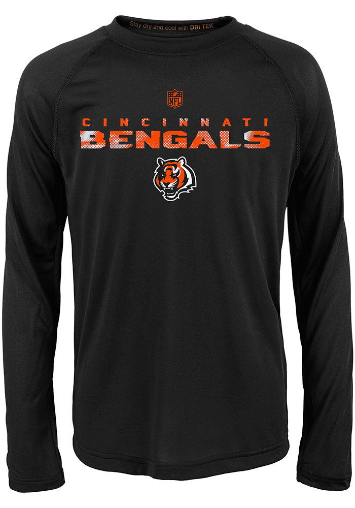 Cincinnati Bengals Boys Black Nebula Long Sleeve T-Shirt - Image 1