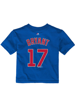 Kris Bryant Chicago Cubs Outer Stuff Blue Name and number Short Sleeve T-Shirt
