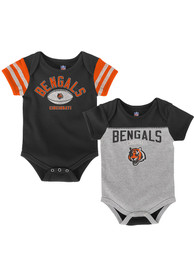 Cincinnati Bengals Baby Black Vintage One Piece