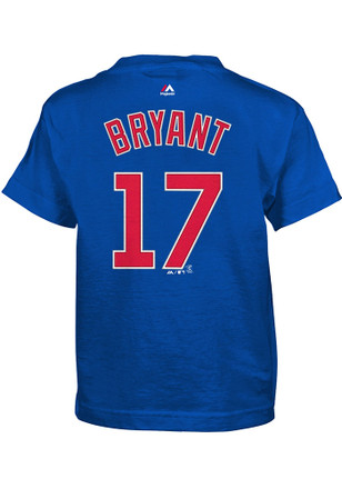 Kris Bryant Chicago Cubs Boys Blue Name and number T-Shirt