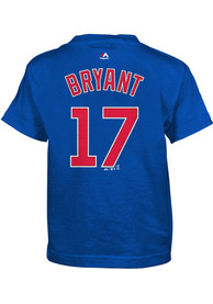 Kris Bryant Chicago Cubs Boys Outer Stuff Player T-Shirt - Blue