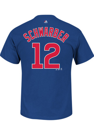 Kyle Schwarber Chicago Cubs Boys Blue Name and number T-Shirt