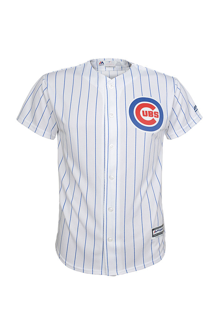 Chicago Cubs Kids White Cool Base Home Replica Jersey - Image 1