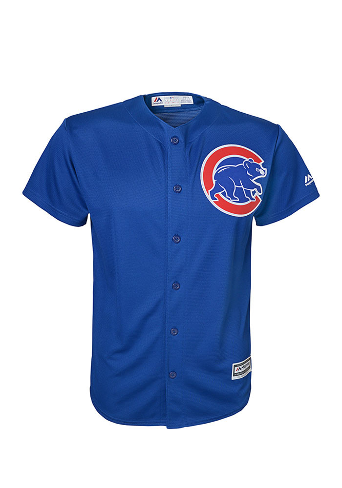 Chicago Cubs Youth Blue Cool Base Alternate Replica Jersey - Image 1