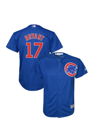Kris Bryant Outer Stuff Chicago Cubs Kids Blue Cool Base Alternate Replica Baseball Jersey