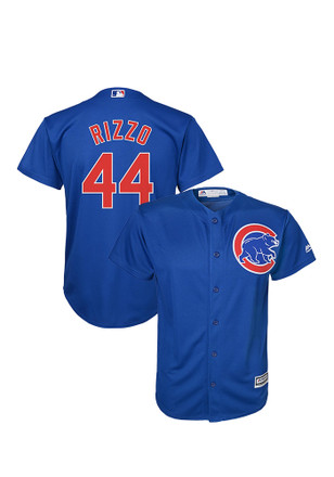 Anthony Rizzo Chicago Cubs Kids Blue Cool Base Alternate Replica Baseball Jersey