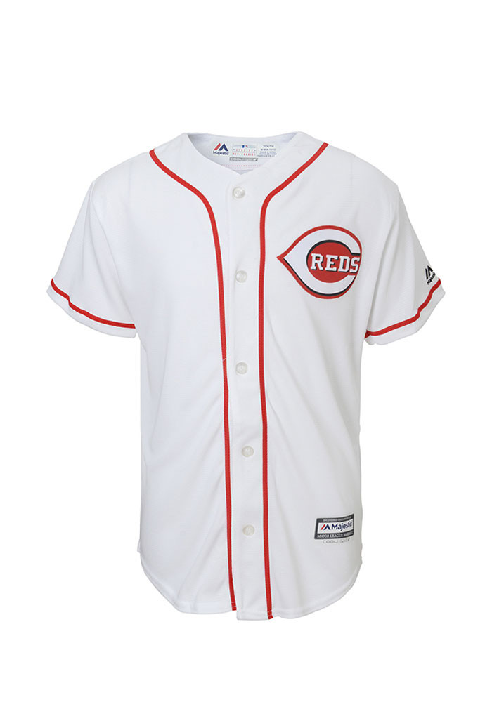 Cincinnati Reds Youth White Cool Base Home Replica Jersey - Image 1