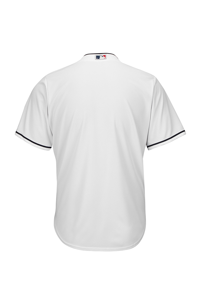 Cleveland Indians Youth White Cool Base Home Replica Jersey - Image 2