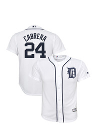 Miguel Cabrera Detroit Tigers Youth White 2017 Home Baseball Jersey