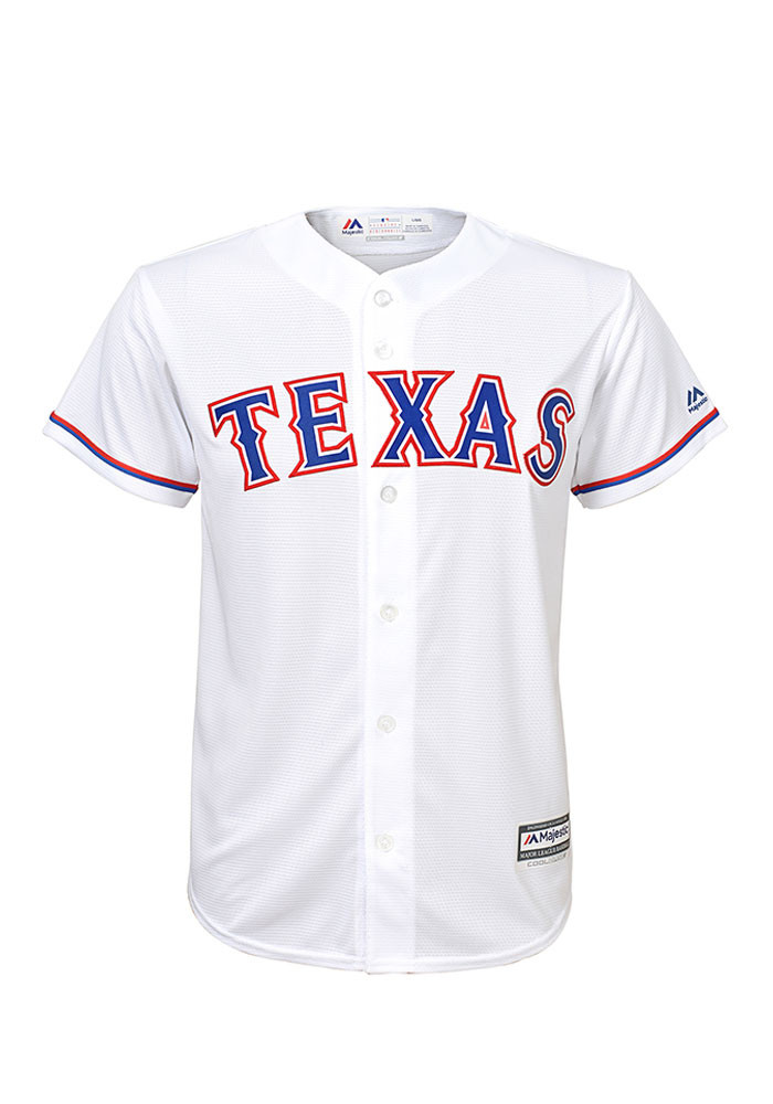 Texas Rangers Youth White Cool Base Home Replica Jersey - Image 1