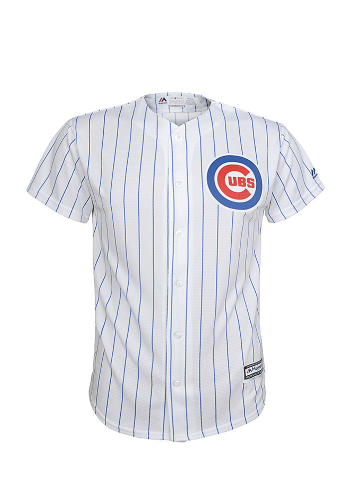 Chicago Cubs Boys White Cool Base Home Baseball Jersey - Image 1