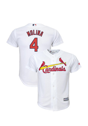 Yadier Molina St Louis Cardinals Boys White Cool Base Home Baseball Jersey