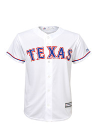 Texas Rangers Boys Cool Base Replica Baseball Jersey - White