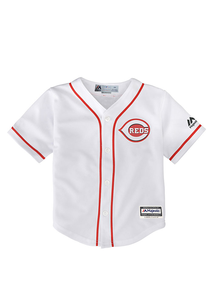 Cincinnati Reds Baby White Cool Base Home Replica Jersey Baseball Jersey - Image 1