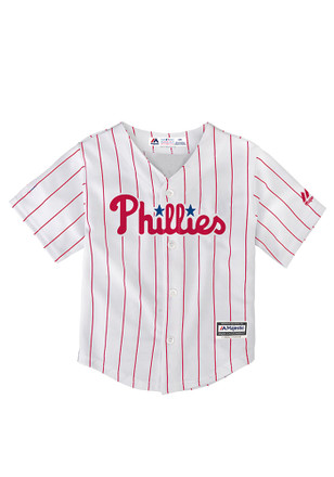 Phillies Baby White Cool Base Home Baseball Jersey