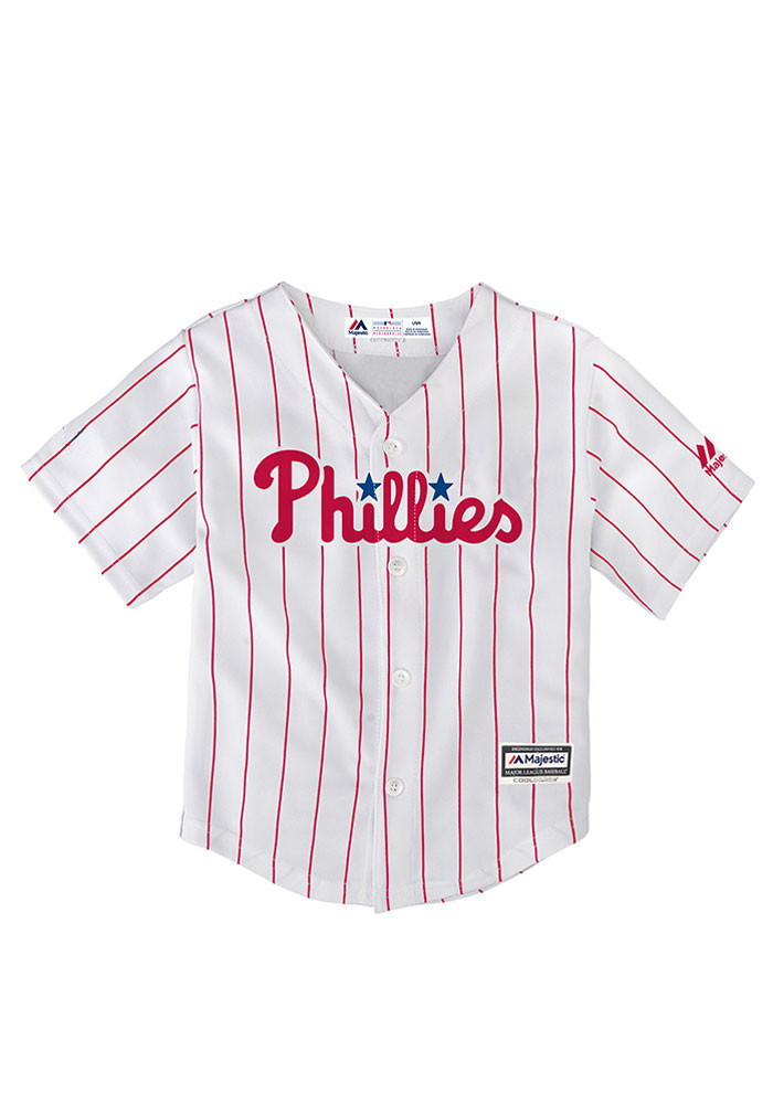Philadelphia Phillies Baby White Cool Base Home Jersey Baseball Jersey - Image 1