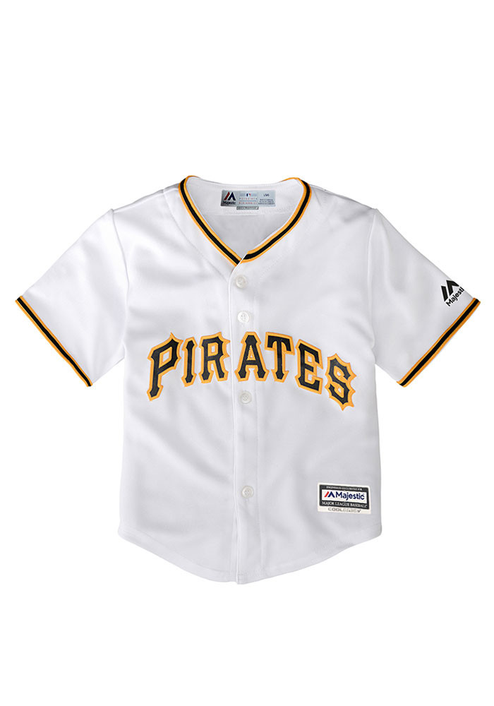 Pittsburgh Pirates Baby White Cool Base Home Jersey Baseball Jersey - Image 1