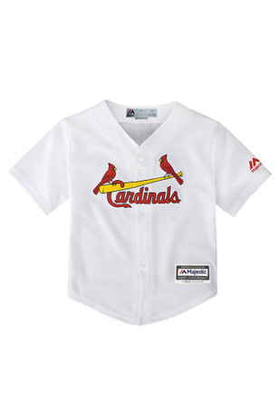 St Louis Cardinals Baby White Cool Base Home Baseball Jersey