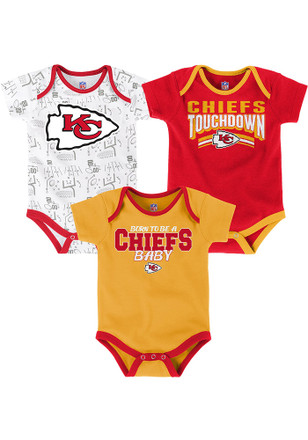 Kansas City Chiefs Baby Gold Playmaker Creeper