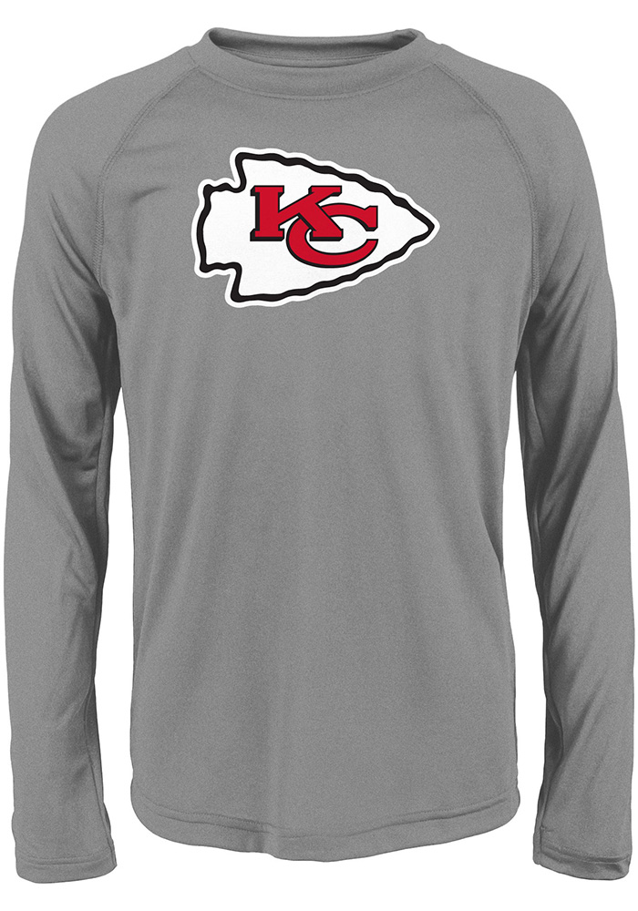 Kansas City Chiefs Youth Grey Primary Long Sleeve T-Shirt - Image 1