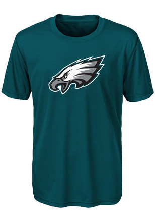 Philadelphia Eagles Youth Midnight Green Primary Logo T-Shirt