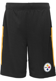 Pittsburgh Steelers Youth Automation Shorts - Black