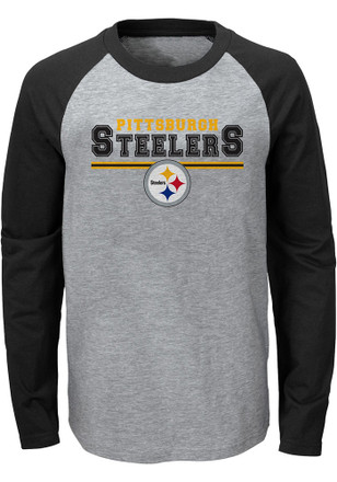 Pittsburgh Steelers Toddler Grey Field Line T-Shirt