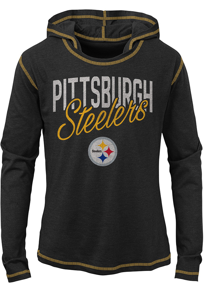 9fd6c86d0 Pittsburgh Steelers Girls Black Glory Days Long Sleeve T-shirt - Image 1