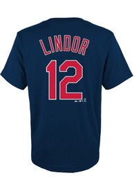 Francisco Lindor Cleveland Indians Youth Player T-Shirt - Navy Blue