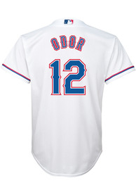 new products 587e0 c4e7a Rougned Odor Texas Rangers Youth Cool Base Replica Baseball Jersey - White