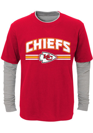 Kansas City Chiefs Boys Red Faux Layer T-Shirt