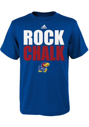 Kansas Jayhawks Kids Blue Rock Chalk T-Shirt
