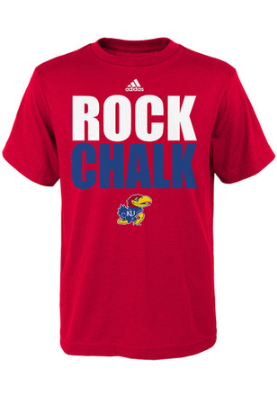 Kansas Jayhawks Kids Red Rock Chalk T-Shirt