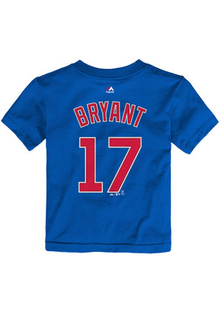 Kris Bryant Chicago Cubs Toddler Blue Name and number Player Tee