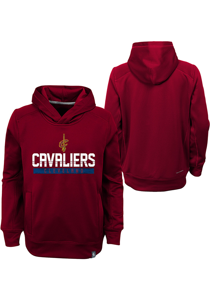 Cleveland Cavaliers Kids Red Playmaker Long Sleeve Hoodie - Image 1