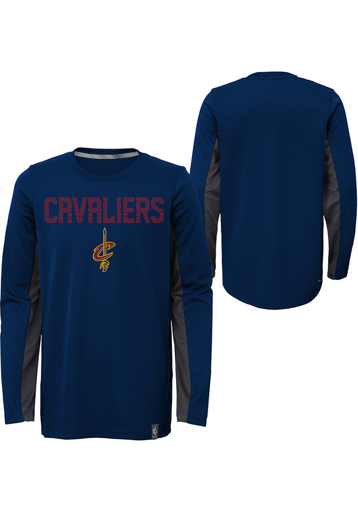 Cleveland Cavaliers Youth Red Assist Long Sleeve T-Shirt - Image 1