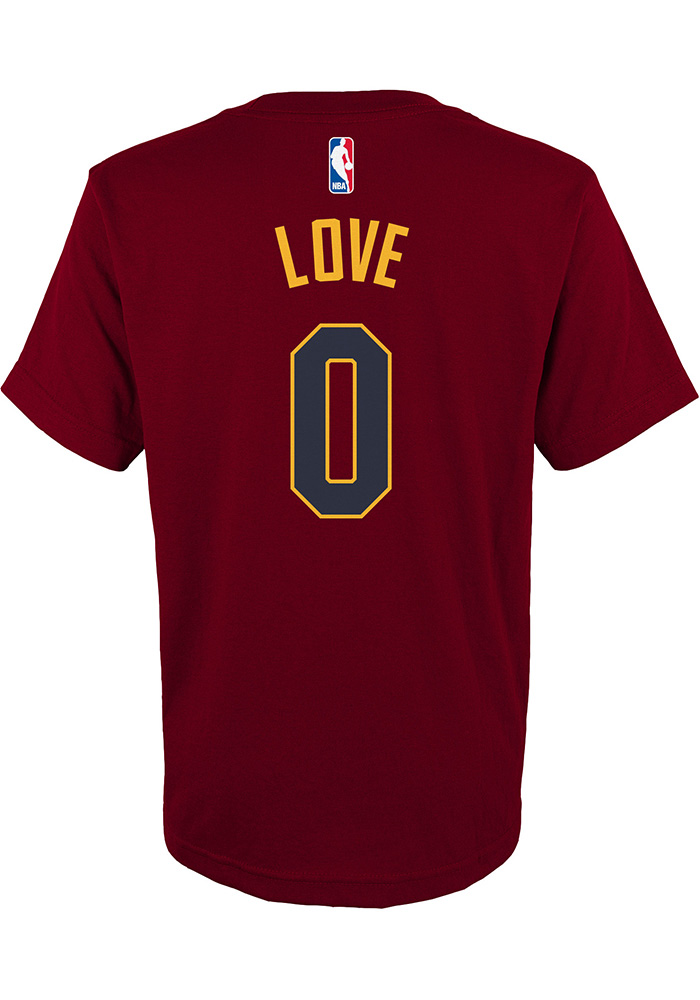 Kevin Love Cleveland Cavaliers Youth Maroon Player Player Tee - Image 2