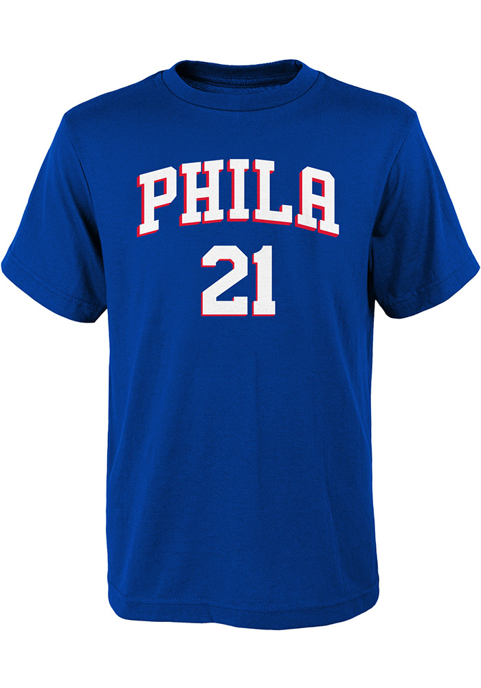 Joel Embiid Philadelphia 76ers Youth Blue Player Player Tee - Image 2